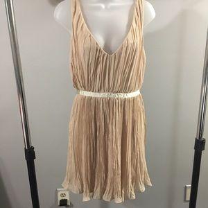 BB DAKOTA   tan ruffle dress